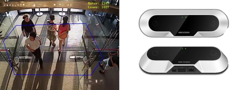 Hikvision IP ống kính kép đếm người ra vào