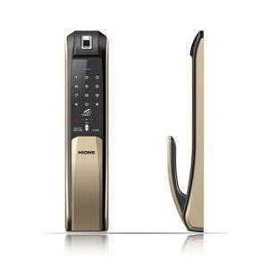 Khóa cửa vân tay - mật mã - thẻ HiOne H7090 Gold