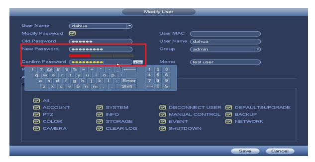 Hướng dẫn thay đổi tên và mật khẩu DAHUA