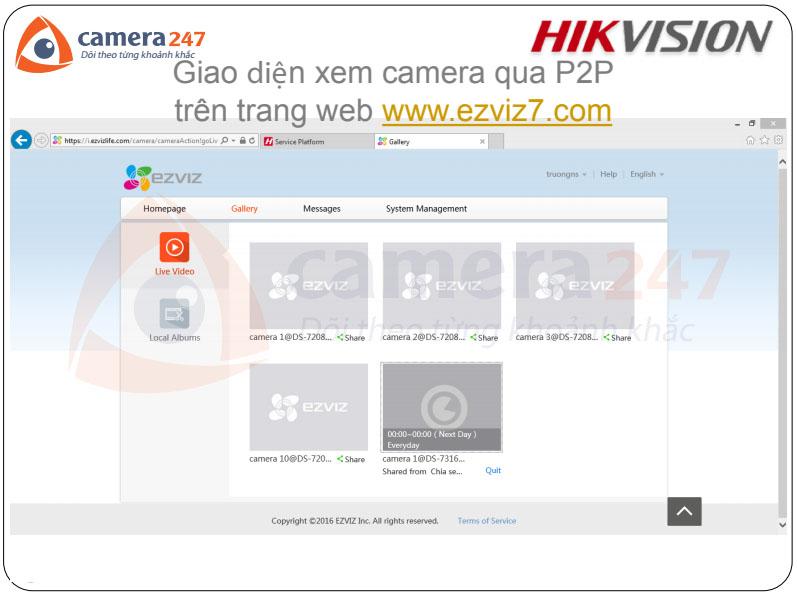 Hướng dẫn chia sẻ camera qua Hik-connect