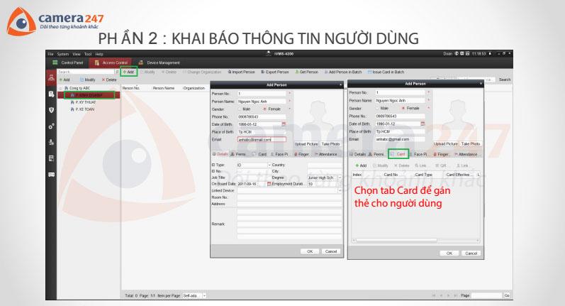 Hướng dẫn cài đặt máy chấm công Hikvision SH-K2A801