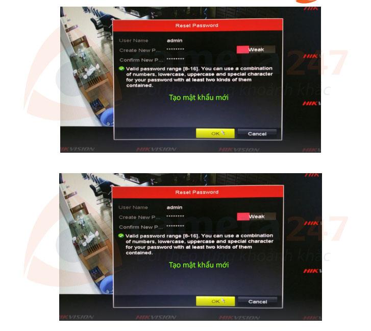 Hướng dẫn reset mật khẩu đầu ghi hình trên màn hình tại chỗ