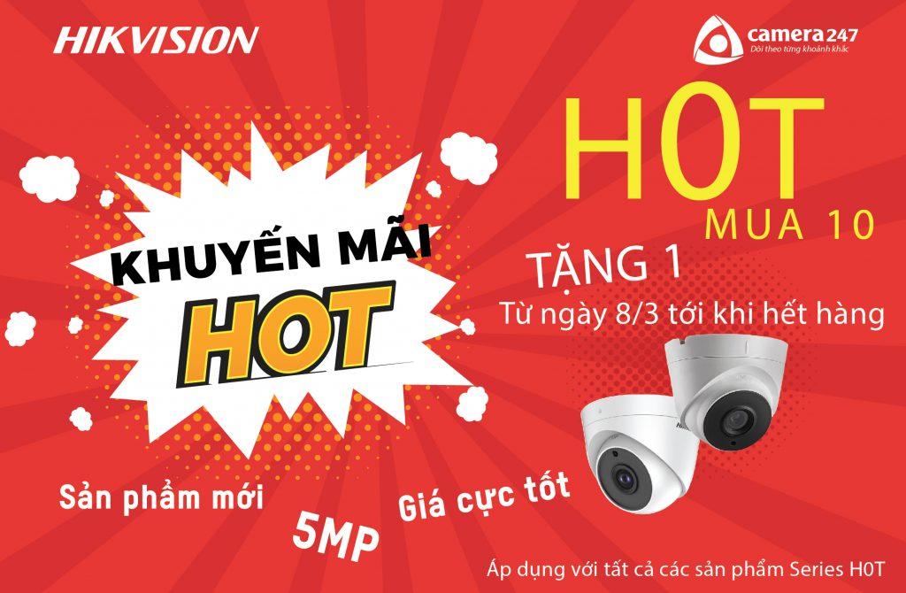 """Khuyến mãi HIKVISION dòng HD-TVI """"H0T"""" 5Mp"""