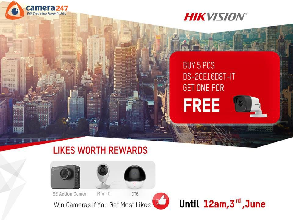 Hikvision tháng 5 - Mua 5 tặng 1