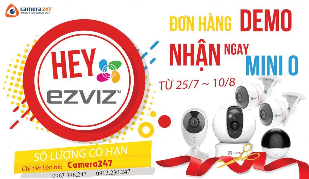 Camera EZVIZ khuyến mãi lớn đơn hàng Demo