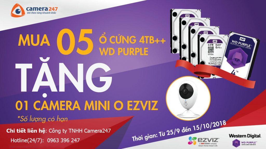 Chương trình khuyến mãi: Mua ổ cứng tặng cam EZVIZ