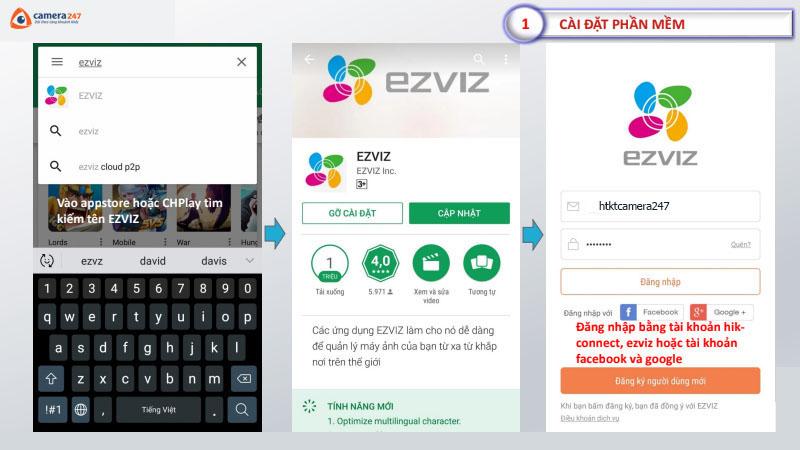 Hướng dẫn sử dụng ứng dụng EZVIZ trên di động
