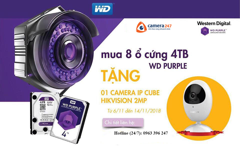 Mua ổ cứng tặng Camera Cube Hikvision