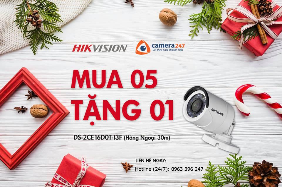 Khuyến mãi Hikvision - MUA 5 TẶNG 1