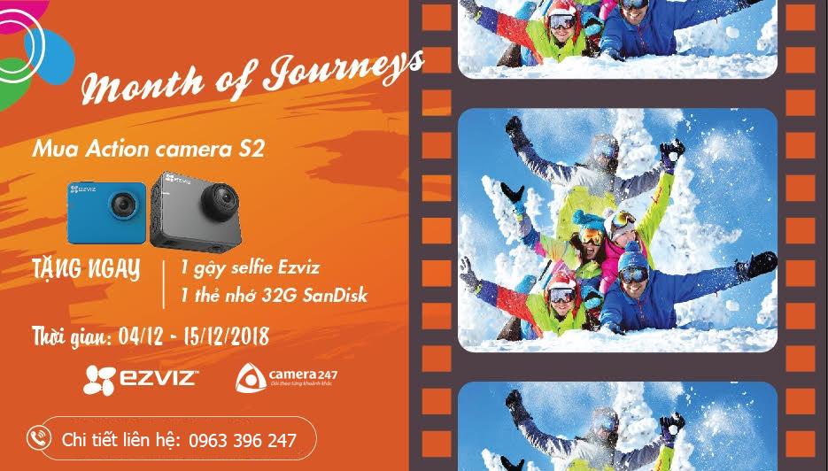 Tháng của hành trình với camera EZVIZ