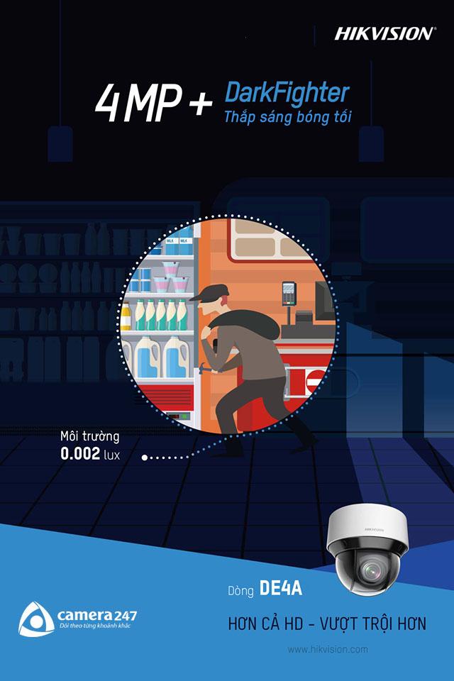Camera PTZ dòng DE4A - Người canh gác bóng đêm tin cậy