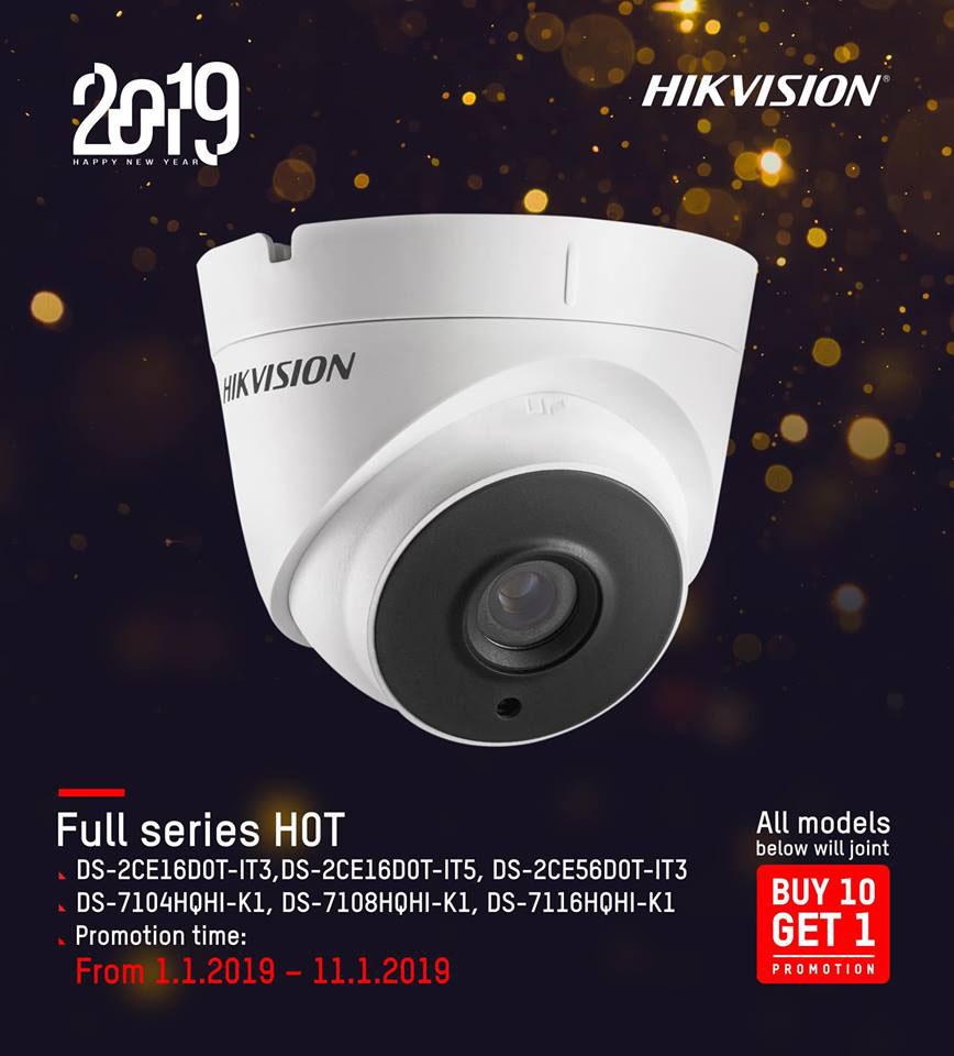 Mua 10 tặng 1 với bộ full series H0T Hikvision