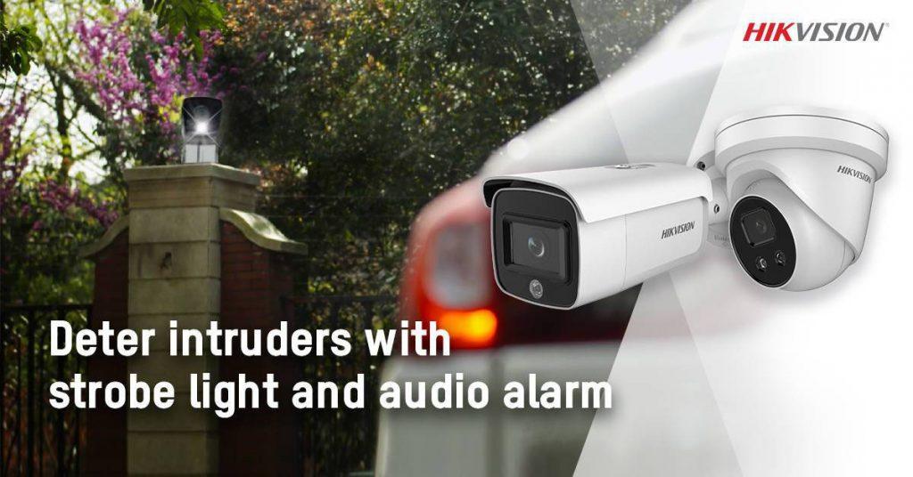 Hikvision ra mắt camera IP có ánh sáng và báo động