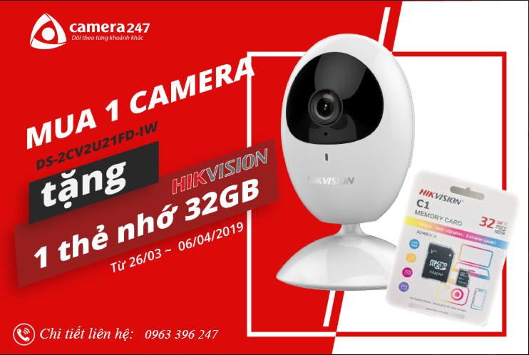 Mua camera HIKVISION tặng thẻ nhớ 32Gb