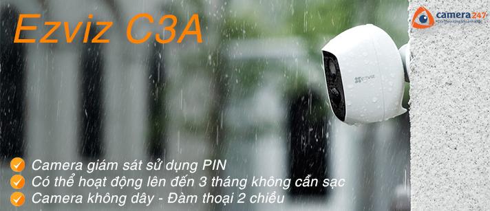 Camera wifi đàm thoại 2 chiều dùng pin EZVIZ C3A