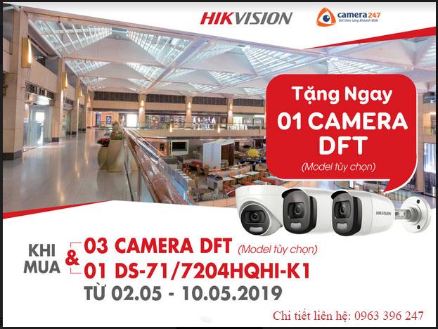 Khuyến mãi camera DFT - Camera HD TVI siêu nhạy sáng