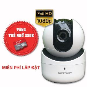 Lắp đặt trọn gói camera wifi hikvision Full HD DS-2CV2Q21FD-IW