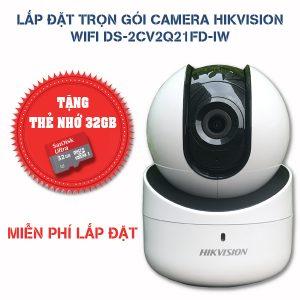 Lắp đặt trọn gói camera Hikvision wifi DS-2CV2Q21FD-IW