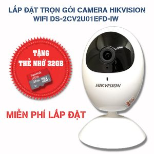 Lắp đặt trọn gói camera Hikvision wifi DS-2CV2U21FD-IW