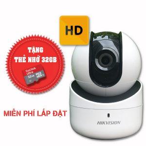 Lắp đặt trọn gói camera wifi hikvision chuẩn HD DS-2CV2Q01EFD-IW