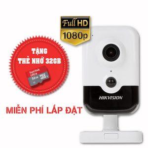 Lắp đặt trọn gói camera wifi hikvision Full HD DS-2CD2423G0-IW