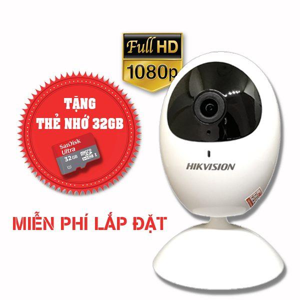 Lắp đặt trọn gói camera wifi hikvision Full HD DS-2CV2U21FD-IW