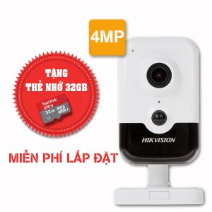 Lắp đặt trọn gói camera wifi hikvision Full HD 4MP DS-2CD2443G0-IW