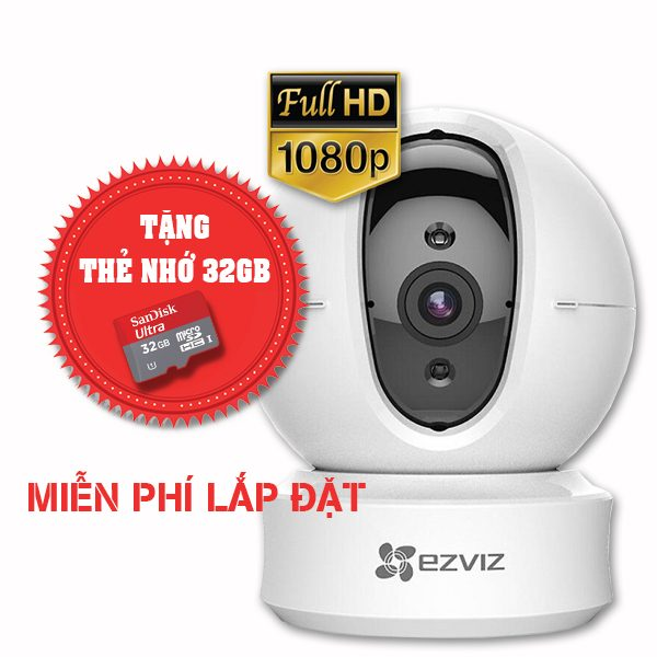 Lắp đặt trọn gói camera wifi full hd ezviz cs-cv246 1080p