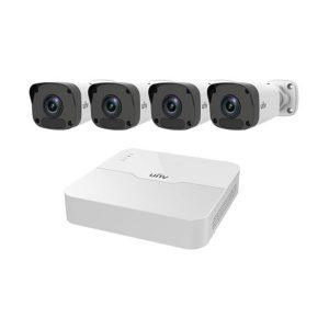 Bộ Kit Uniview camera IP trụ KIT/301-08LB-P8/4*2122LR3-PF40M-D