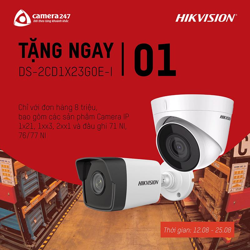 Khuyến mãi hikvision tháng 08 năm 2019