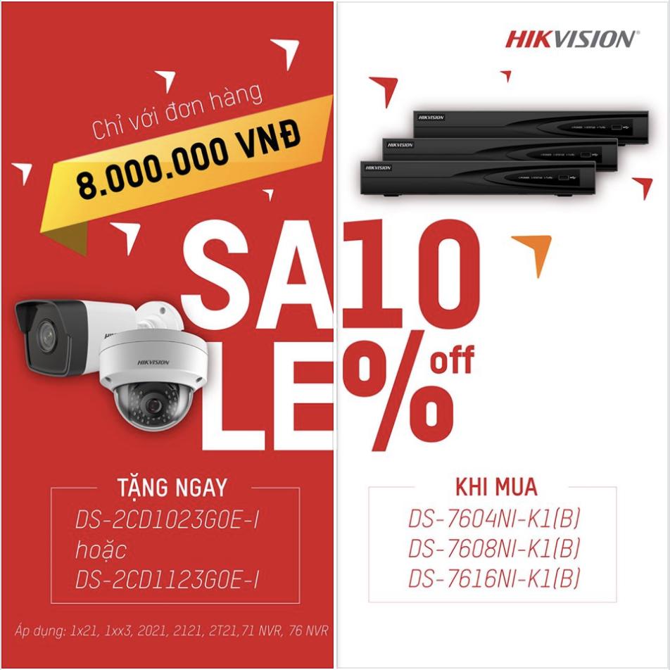 Khuyến mãi hikvision tháng 11: Tặng camera với đơn hàng 8 triệu, giảm giá đầu ghi 10%