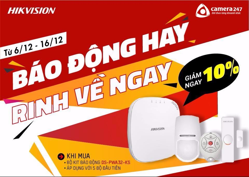 Giảm giá 10% báo động Hikvision