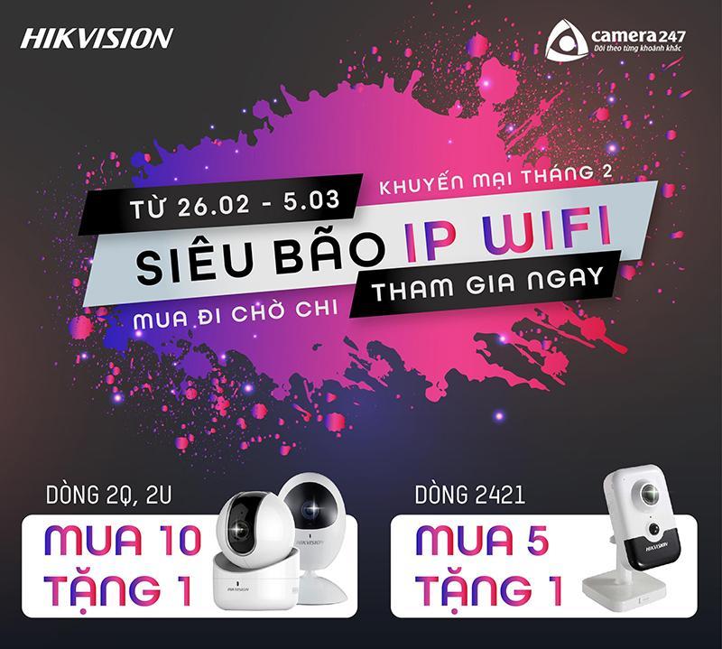 Khuyến mãi camera IP Wifi Hikvision